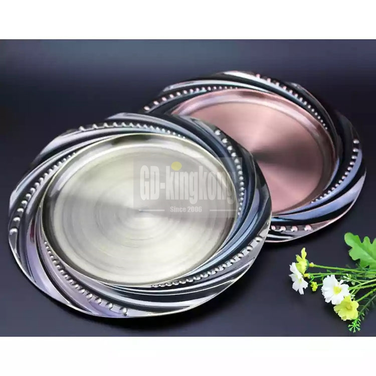 GUANGDONG-KINGKONG High Quality Wholesale Wedding / Party Serving Tray Golden Plate