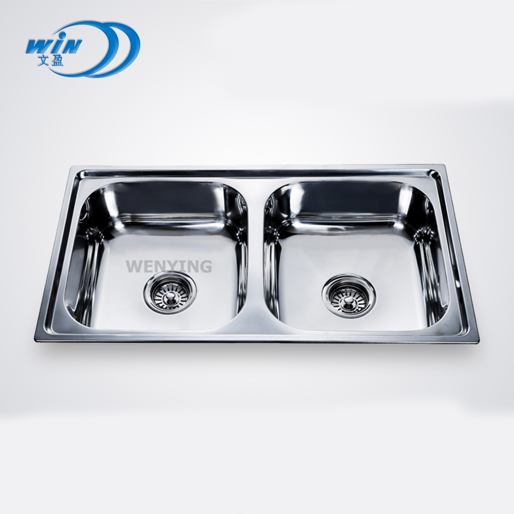 Famous Brand Deep Stainless Steel Kitchen Sink With Double Bowl For