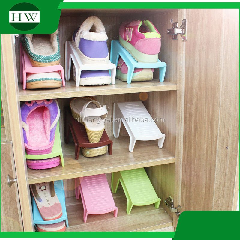 plastic Double layer shoe rack