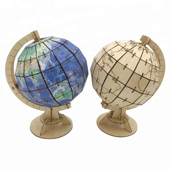 Laser Cutting 3D Puzzle World Globe