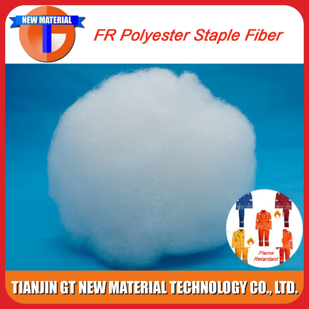 white color anti fire polyester fiber flame retardant fiber for sale