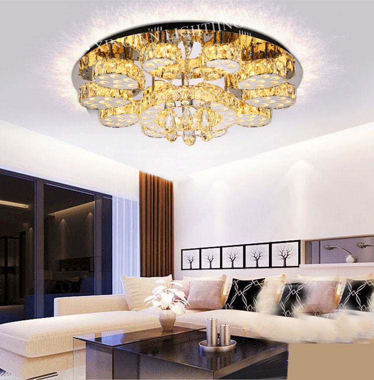 Large Gorgeous Decorating Led Crystal Ceiling Lighting ...