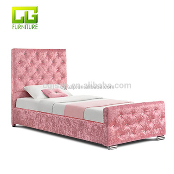 Superieur Girls Princess Pink Crushed Velvet Single Bed Frame With Under Storage    Buy Metal Bed Frame With Storage Space,Storage Bed Frame With Gas Lift,Lift  ...
