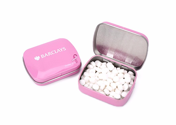 Competitive price Custom logo tablet cool mint sugar with tin