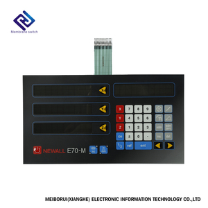 Big Factory Waterproof Black Membrane Panel Membrane Keypad