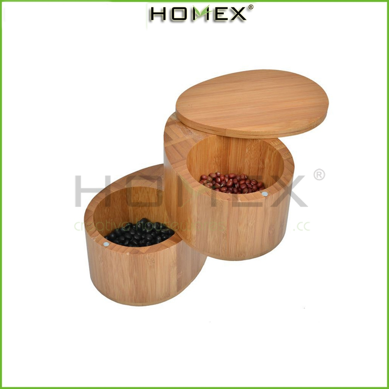 Bamboo Kitchenware Spice Storage Sets/Chef 2 Tier Spice Storage Container with Magnets/Homex-factory