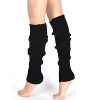 Rib Knit Over Knee High Long Yoga Leg Warmer For Woman And Girl
