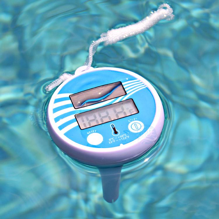 Solar powered floating pond thermometer for swimming pool - Swimming pool water temperature gauge ...