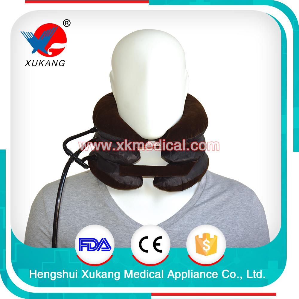 Portable Cervical Collar Neck Support Brace Air Traction Collar for Pain Release (Type III)