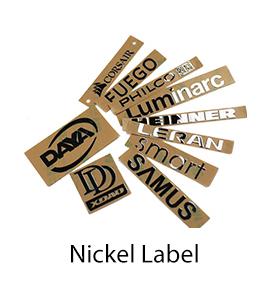 Diseño de encargo libre cobre Logotipo de metal níquel etiqueta engomada del ordenador portátil notebook pantalla teléfono móvil refrigerador TV coche guitarra