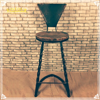 Wholesale metal furniture dining set iron wood table and chair