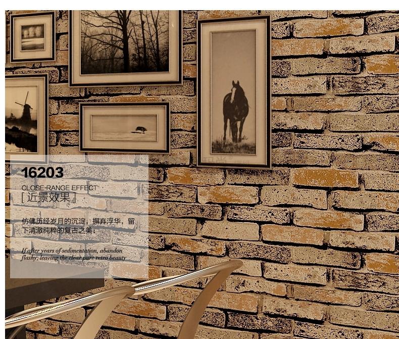 new 3d luxury wood blocks effect stone brick 10m vinyl