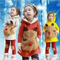 New 2014 Fashion Winter Children s Clothing sets Autumn Girls Child Thickening Fleece Sweatshirt Legging Children
