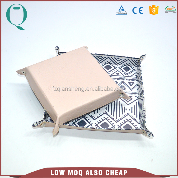 Desk storage leather tray for wholesale