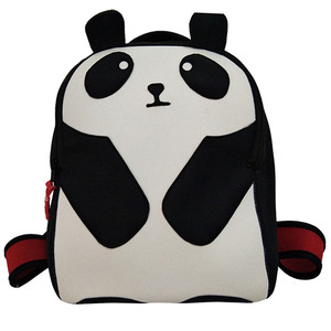 Cute cartoon panda shaped lovely kids neoprene backpack bag