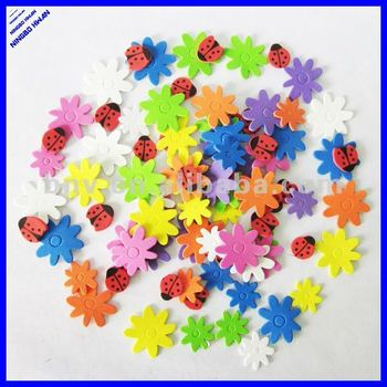 flower and animal shapes foam shape arts and craft foam sticker for