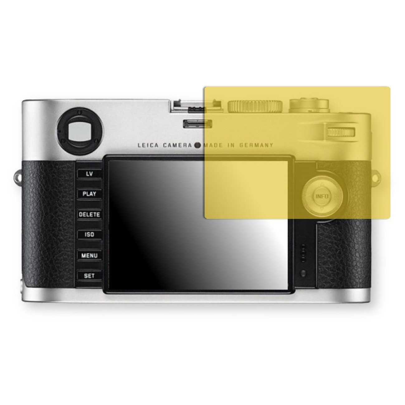 Golebo Screen Film for Privacy protection yellow for Leica M - PREMIUM QUALITY