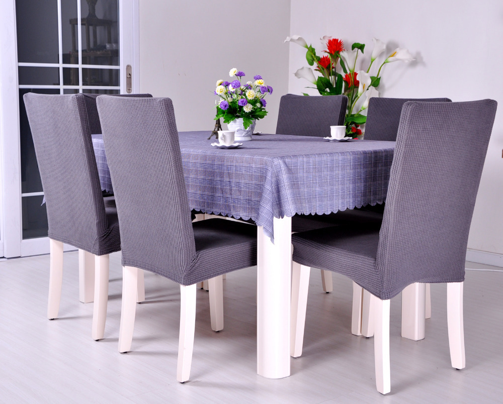 material to cover dining room chairs | Dining Room Jacquard Oil proof Poyester Spandex Fabric ...
