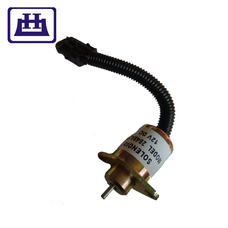 12V Fuel Shutoff Solenoid 172-7209 2848A278 for Caterpillar CAT 232 262 252 242 906 257 277 267 287 247