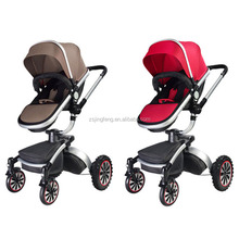 New Baby Stroller Style Aluminium Frame Fabric 600D Baby Pram 3 in 1 ,Baby Aluminium Stroller 3 in 1 With 360 Swivel Seat Set