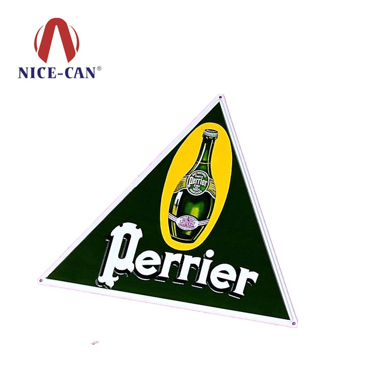 OEM Factory Supply triangle bar decoration tin sign metal tin sign for decoration