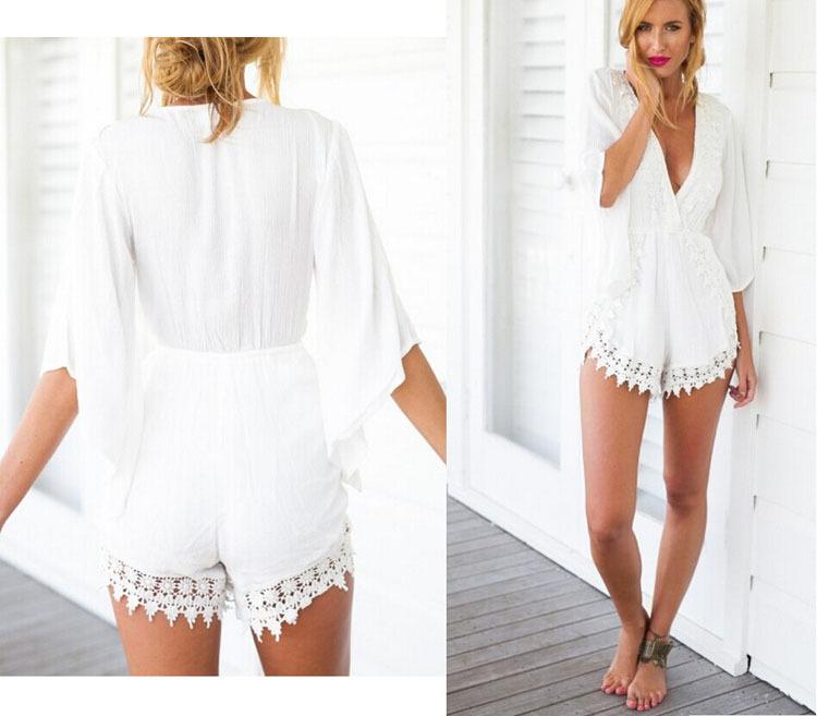 1d473721af White Summer Jumpsuits - Noisey Clothing
