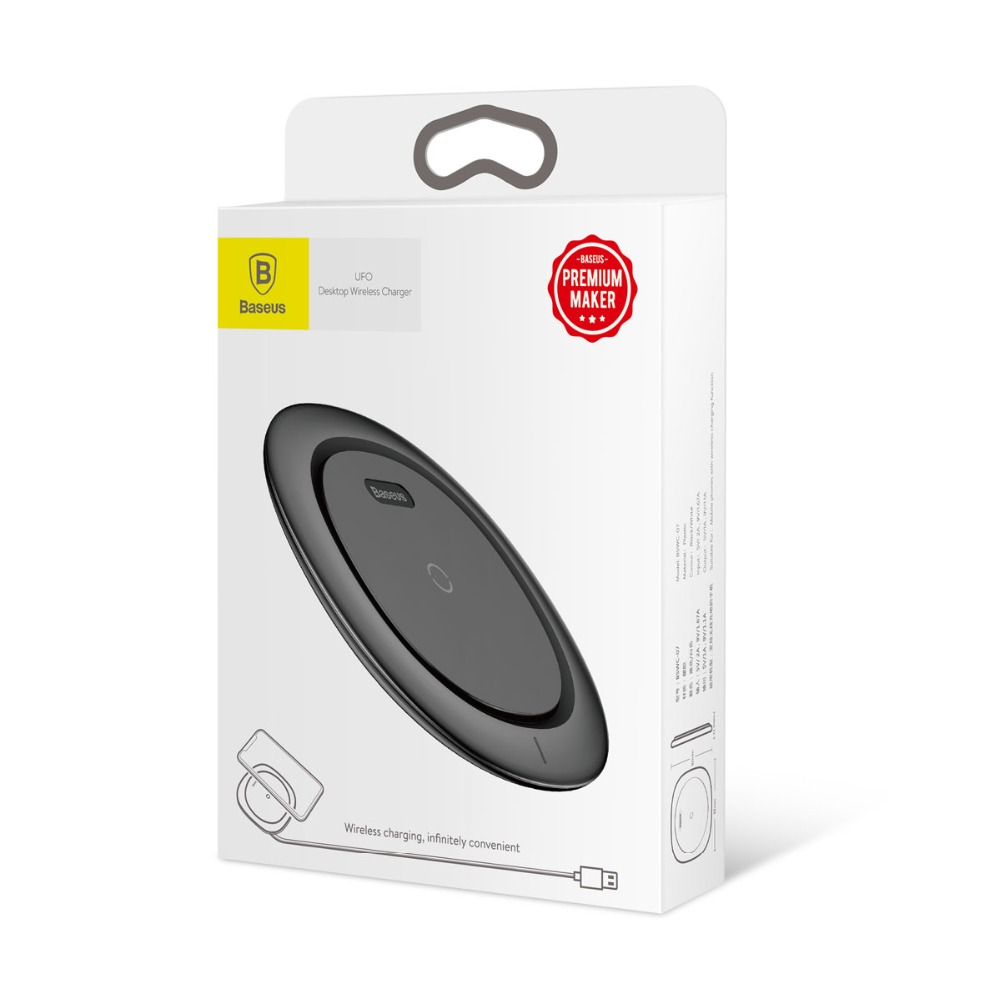 Baseus UFO desktop wireless cell phone charger for oppo vivo for samsung galaxy a8