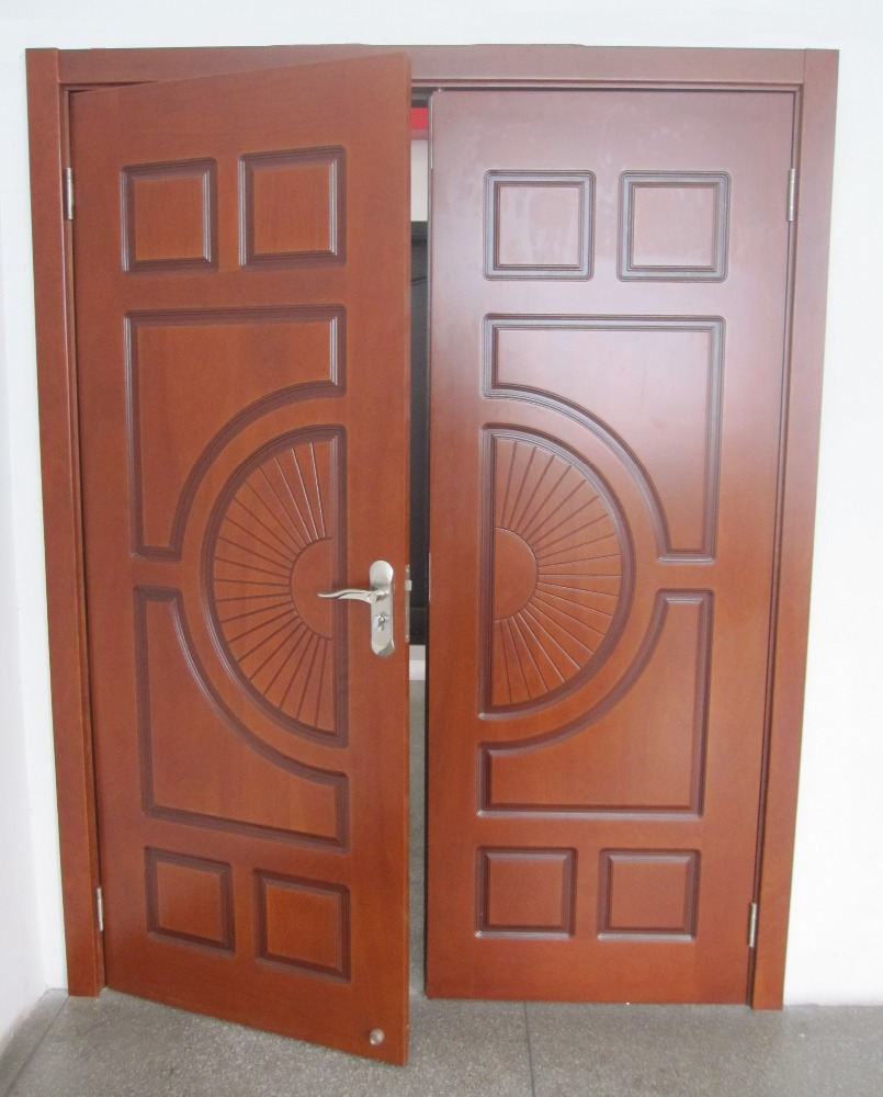 Venta al por mayor puertas madera color nogal compre for Puertas de madera con cristal precio