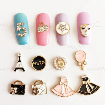 Wholesale Japanese Style Nail Jewelry Nail Supplies Alloy Nail Art