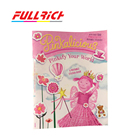 Custom pink picture and sticker book combination for children