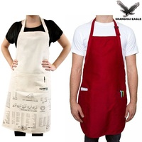Promotion cooking apron, custom kids/adult apron, multifunction BBQ cotton apron