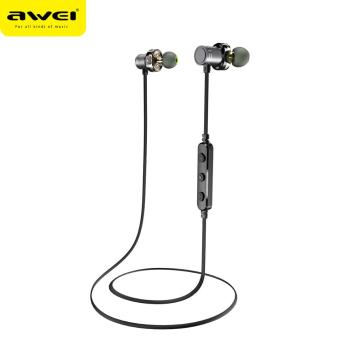 Awei New Arrival apt IPX4 Dual Speaker neckband wireless bluetooth headset