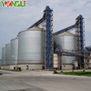 Corrosion resistant galvanized steel silo for grain storage