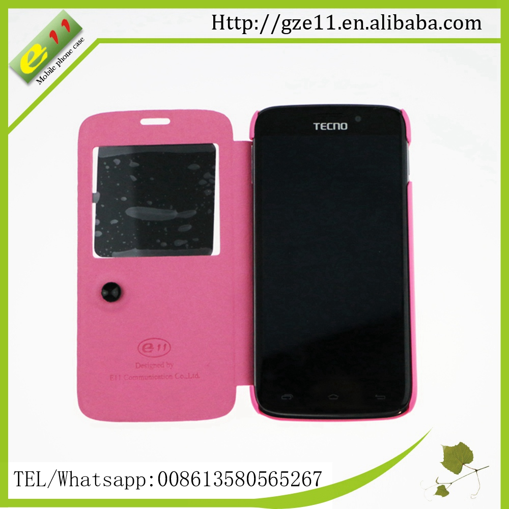 PVC window case cover for tecno R7 mobile housing cases