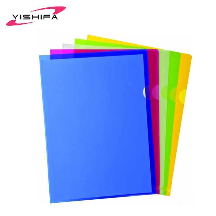 Customized Printed Design A4 Folder PP Material L Shape Folder
