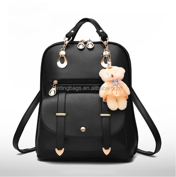 477b596c9bfa Eco-Friendly Unique Design High Quality Customized Backpack Women Pu  Leather Backpack with HangingToy