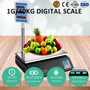 Price computing acs 30 kg digital price weighing scale