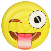 GIANT Facial Expression Emoji Island Laugh Cry Inflatable ว่ายน้ำ FLOAT Raft