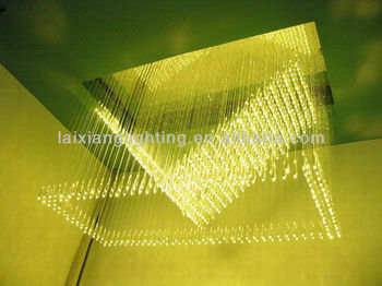 Indoor Plastic Optical Fiber Waterfall Shaped Optic Chandeliers ...
