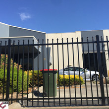 Powder Coated Galvanized Steel Safety Spear Industry Fence