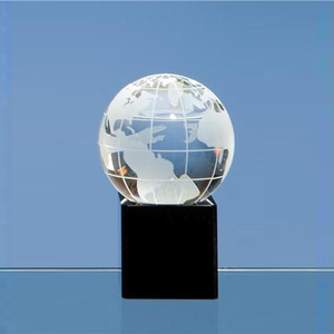 Fashion round glass office sets crystal globe paperweight