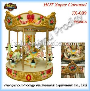 Hot sale kids carousel ride/ coin operated carousel/ rotary kiddie ride