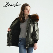 Cheap Custom Jacket Women Down Coat With Big Raccoon Fur Collar