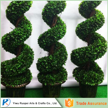 artificial ornamental plants big trees boxwood topiary spiral tree Artificial Ornamental Plants