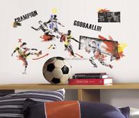 New Giant MEN'S SOCCER WALL DECALS Sports Bedroom Stickers Boys Room Decor Home Decor Vinyl Art