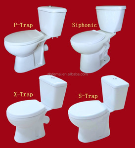 bathroom toilet cheap two piece P/X/S Trap sanitary ware china manufacturer ceramic toilet