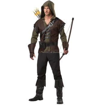 oliver queen cosplay costume in green arrow Robin Hood Costume For men sexy cosplay costume QAMC-2059