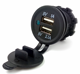 Twin USB power socket waterproof 12v cigarette lighter outlet
