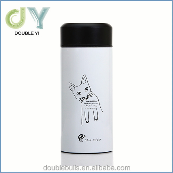 simple and fashion office vacuum flask cute cat hot water bottle lovely animal printing cold water bottle