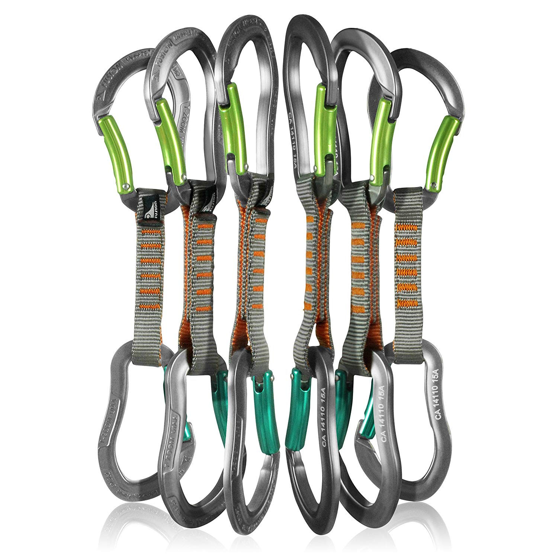 Fusion Climb Techno Zoom Bent Gate Ergonomic Carabiner Gray//Orange